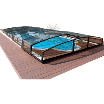 Polycarbonat versenkbare Poolabdeckung für Inground Pool