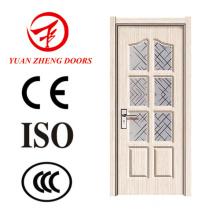 Preço mais recente de porta de PVC de design Maçaneta de porta de madeira