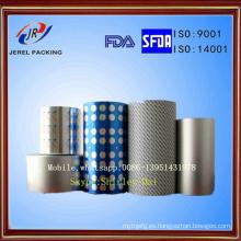 Aluminio Ptp Blister Foil con Hsl y Vc para sellar con PVC
