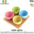 Various Colors Biodegradable Bamboo Fiber Bowl (HDP-2074)