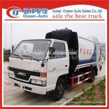 JMC 4*2 small capacity of rear loader garbage truck