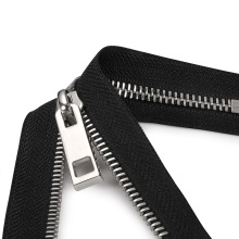 New Material Stainless Steel Swiss Teeth Zipper