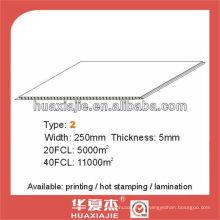 Настенная и потолочная панель ПВХ 250 мм * 5 мм
