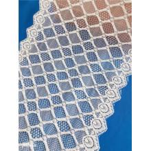 Tissu de dentelle large extensible en nylon spandex pour la lingerie