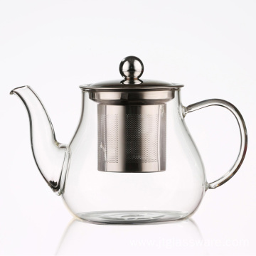 Coffee Tea Leaf Cooking Glass Teapot