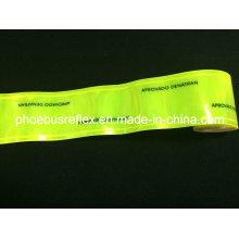 Cinta reflectante impresa logotipo del PVC de los 5cm de ancho