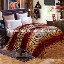 2015 Customized Tiger Skin Pattern Polar raschel Blankets For Sale