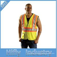 Chaleco de seguridad de manga larga de construcción de alta visibilidad 3M ropa de protección reflectante