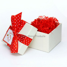 Various size square gift paper box with ribbon