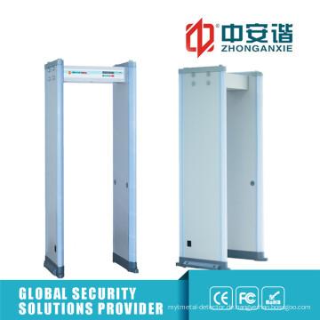 Super Sensitivity 6/12/18 Zones Metal Detector Gate für High-End Situation