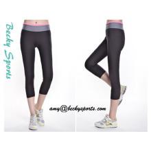 Lady's Yoga Wear Sportwear Pantalons de yoga avec couleur personnalisée