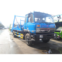 Swing arm garbage truck