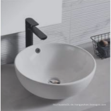 Modernes rundes Aufsatzwaschbecken aus Keramik