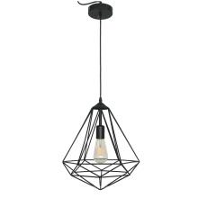 Lámpara colgante geométrica simple de alambre de hierro nódico
