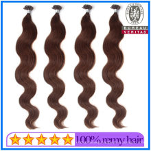20 Inch Brown Color Nail Tip Pre Bonded Hair Extension
