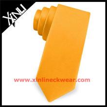 2013 nouvelles cravates en gros maigres cravate orange