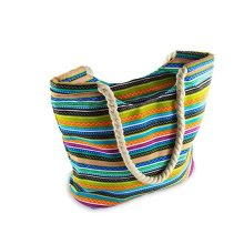 Promotion Summer Women Beach Bag with Rope Handle