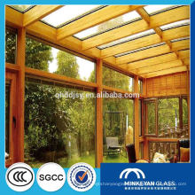1/4 thk insulated laminated safety 6mm tempered glass greenhouse supplier in China