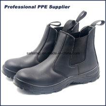 Chaussure de travail sans lacets en cuir véritable