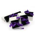 Caixa de embalagem de jóias de papelão com inserção de veludo