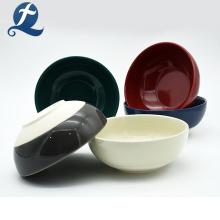 Sicherheit Handgemachte runde Form Keramik Suppe Schüssel
