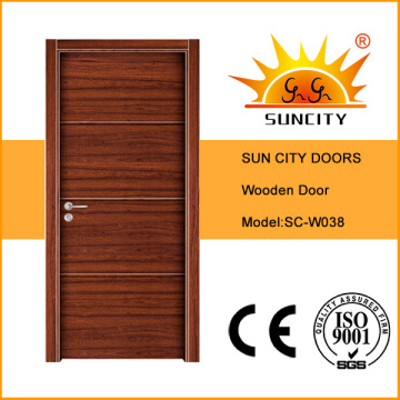 Горячая Продажа плоский дизайн хозяйственная Одиночная Облицовка деревянных дверей (СК-W038)