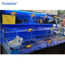 wholesale single layer 3 tier live fresh seafood tank aquarium for restaurant or supermarket