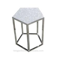 CANOSA concha chinesa com mesa de chá de pentágono de aço inoxidável