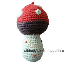 Eco Friendly Hand Crochet Cute Rattle Toy   Amigurumi Mushroom