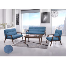 Set de canapé en bois, ensemble de canapé avec table basse