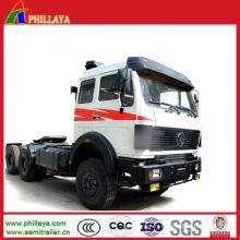 Camion de tracteur de la tête 6 * 4 4 * 2 de camion de Sino (puissance de cheval facultative)