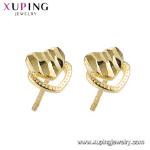 95962 xuping jewelry 24k gold plated heart forever shape fashion stud earring