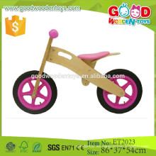 China madera contrachapada de color rosa push moto para niños