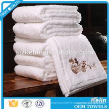 Fabrication professionnelle Luxe coton Hôtel living serviettes