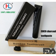 Bamboo charcoal whitening toothpaste
