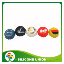 cheap customized logo silicone bottle cap