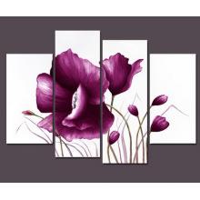 Peinture à l'huile de fleur de toile moderne