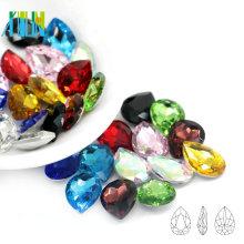 Mejor venta Pointback pera Crystal Fancy Stone Drop diseño de la forma para hacer DIY C4320