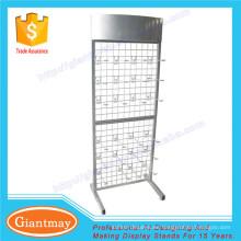 libre de pie de productos colgantes de alambre de metal rejilla de malla de panel de pared soporte de los estantes