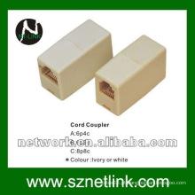 6p4c rj12 Cord Coupler