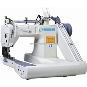 Máquina de coser doble aguja alimentación de brazo (con el tirador interno)