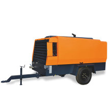 Traction Diesel Engine Movable Screw Air Compressor