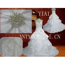 HH0041sweetheart декольте паффи принцесса бальное платье свадебное платье
