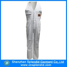 Fashion Wholesale Workwear White Cheap Bib Pants for Worker