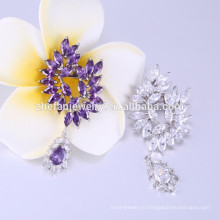 Павлин формы брошь дизайн фиолетовый кристалл брошь pin