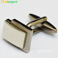 Gold Cufflink With Raised Customized Logo