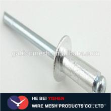 DIN7337 De acero de aluminio de tipo abierto de cabeza redonda ciego remache tipo abierto avellanado cabeza ciega remache de aluminio remache ciego