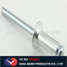 DIN7337 Aço de alumínio tipo aberto cabeça redonda rebite cego tipo aberto cabeça escaldada rebite cego rebite em alumínio