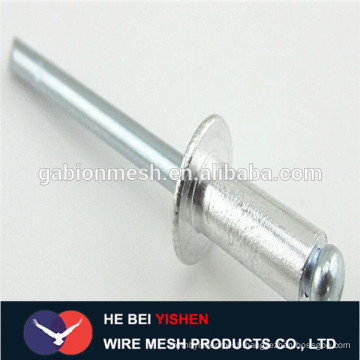 DIN7337 Aluminium steel open type round head blind rivet open type countersunk head blind rivet aluminum blind rivet