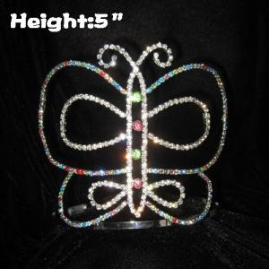 Coronas de cristal con forma de mariposa para niños